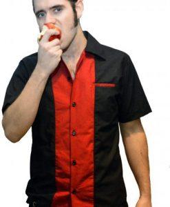 Bolera roja y negra