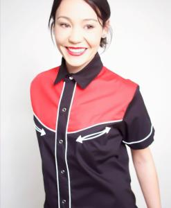 Camisa Tejuelas de manga larga para mujer
