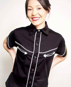 Camisa  Tejuelas  de manga corta  para mujer